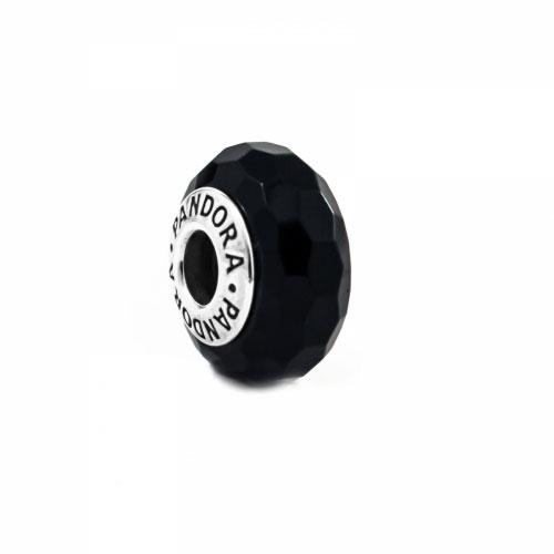 Pandora Black Faceted Murano Glass Charm 791069