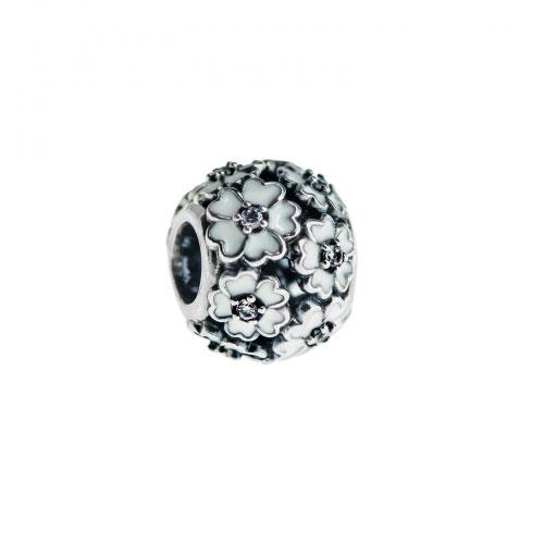 Pandora White Primrose Meadow Silver & White Enamel Charm 791488EN12