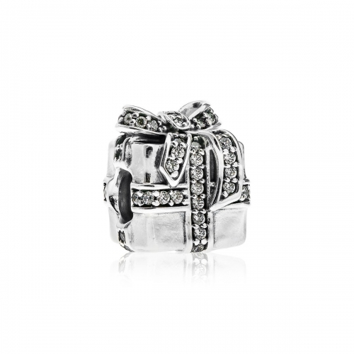 Pandora Sparkling Present Silver & Clear CZ Charm 791400CZ