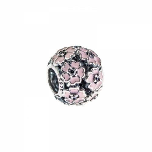 Pandora Pink Primrose Meadow Silver & Pink Enamel Charm 791488EN68