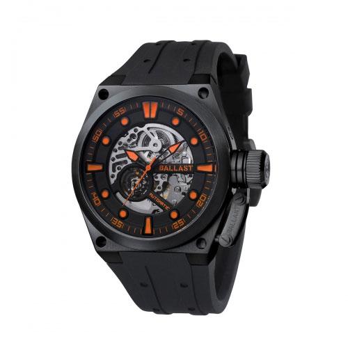Ballast Black and Orange Valiant Analogue Watch