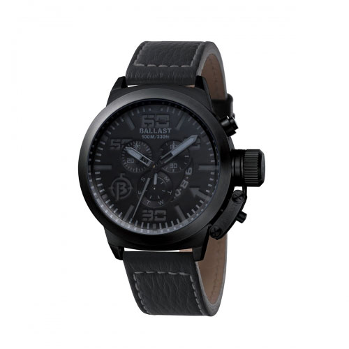 Ballast Black Trafalgar Chronograph Watch