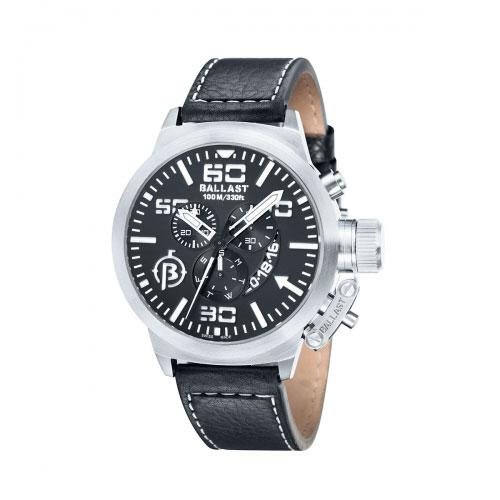 Ballast Silver Trafalgar Chronograph Watch