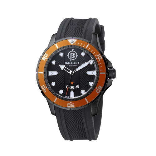 Ballast Black and Orange Vanguard Analogue Watch