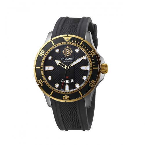 Ballast Black and Gold Vanguard Analogue Watch