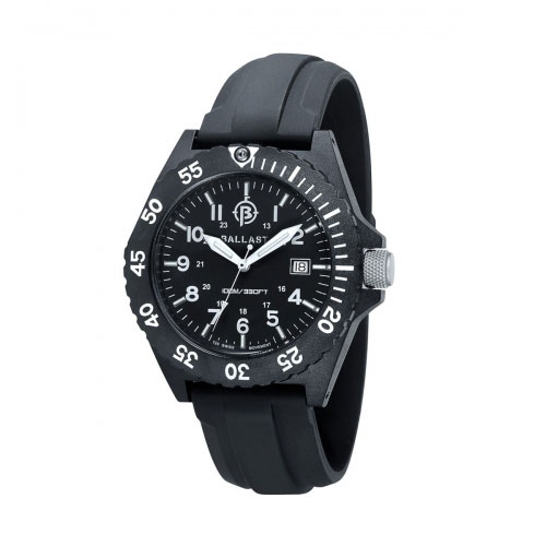 Ballast Black and White Bright Star Analogue Watch