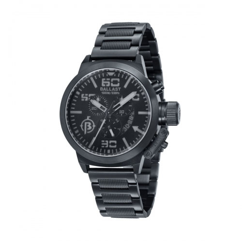 Ballast Black and Grey Trafalgar Chronograph Watch