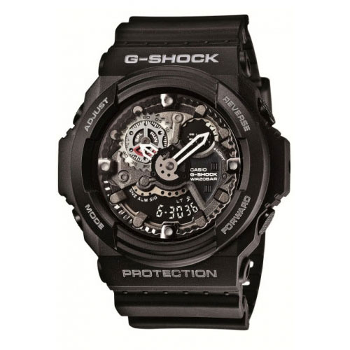 Casio G-Shock Men's Black Alarm Chronograph Watch GA-300-1AER