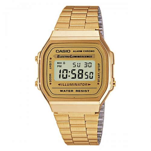 Casio Gold Dial Illuminator Retro Watch