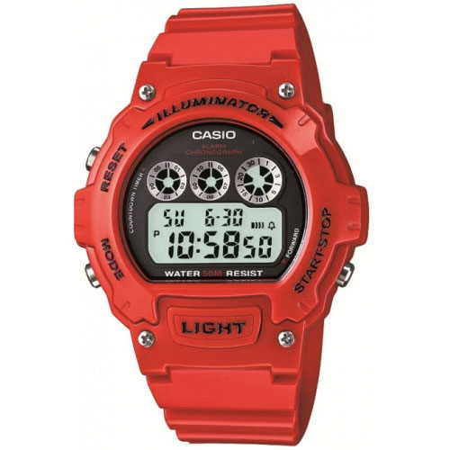 Casio Red Illuminator Watch