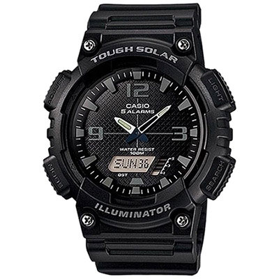 Casio Illuminator Tough Solar Men's Black Alarm Chronograph Watch AQ-S810W-1A2VEF