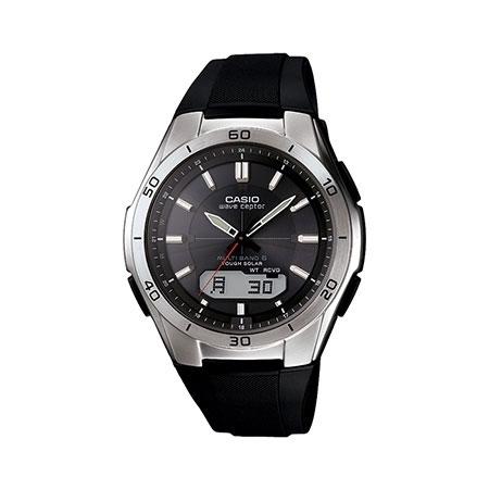 Casio Black Waveceptor Alarm Chronograph Watch