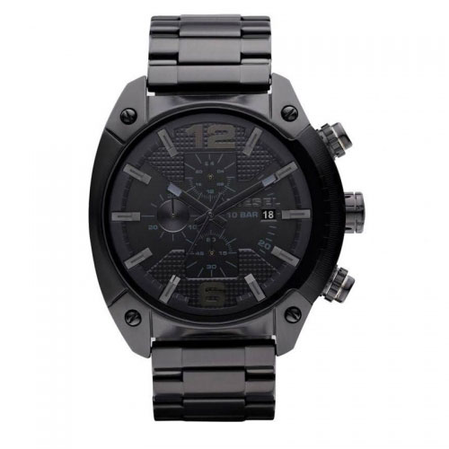 Diesel Black Overflow Chronograph Watch