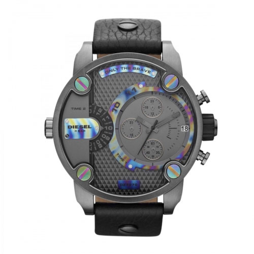 Diesel Little Daddy Black Ion Stainless Steel Watch