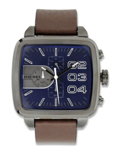 Diesel Square Double Down Chronograph Watch