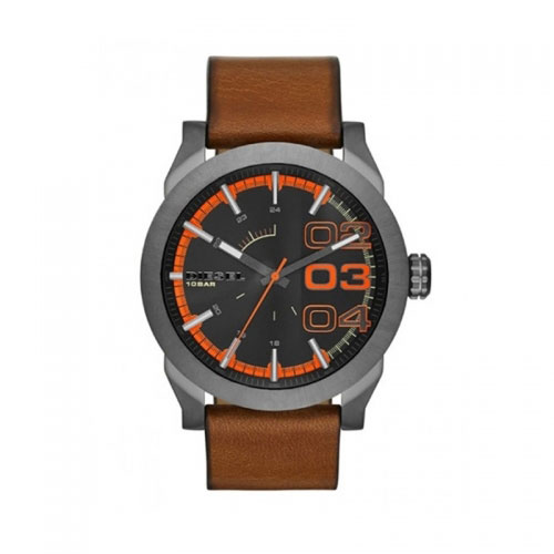 Diesel Watches Diesel Brown Double Down 46 Watch