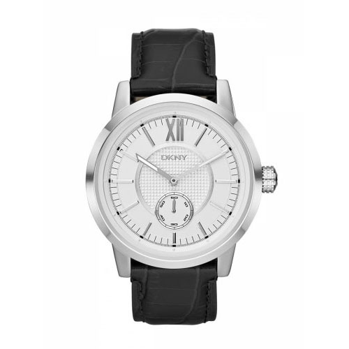 DKNY Fancy Men's Silver & Black Watch NY1520