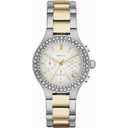 DKNY Chambers Ladies Two Tone Chronograph Watch NY2260