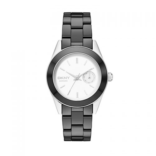 DKNY Jitney Black Ceramic Watch