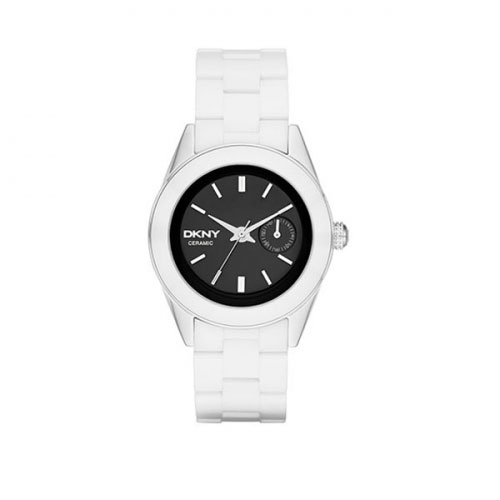 DKNY Jitney Ladies White Ceramic Watch NY2142