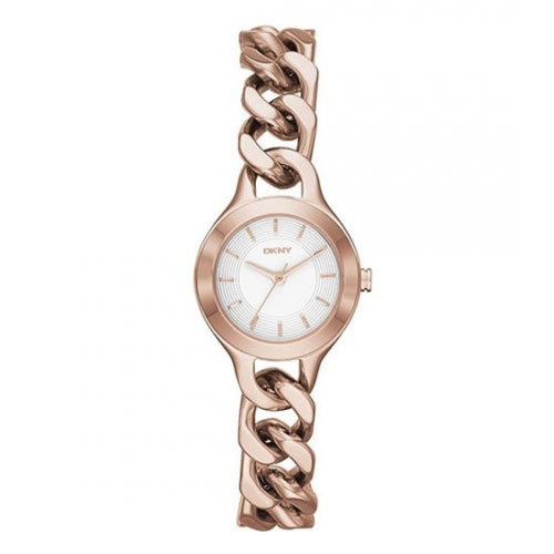 DKNY Rose Gold Chain Chambers Watch