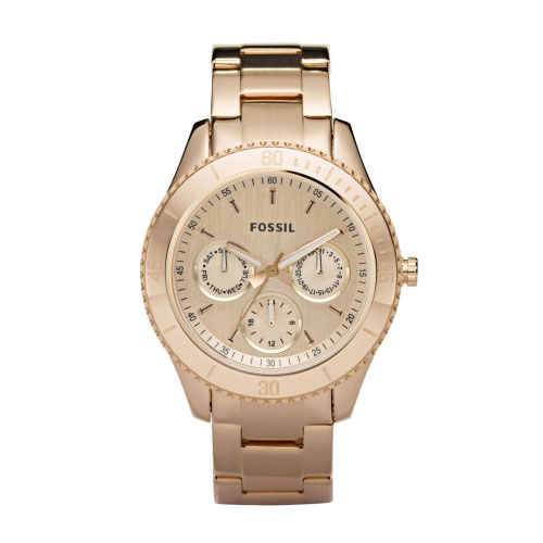 Fossil Stella Ladies Rose Gold Chronograph Watch ES2859