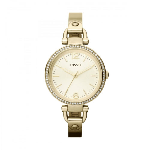 Fossil Fossil Georgia Ladies Gold Watch ES3227
