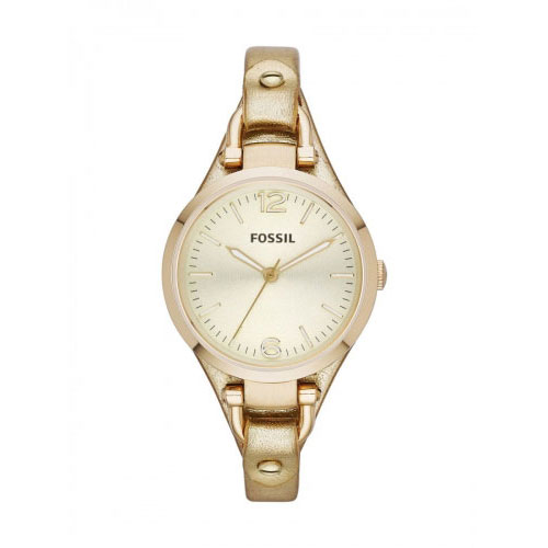 Fossil Georgia Cuff Ladies Gold Watch ES3414