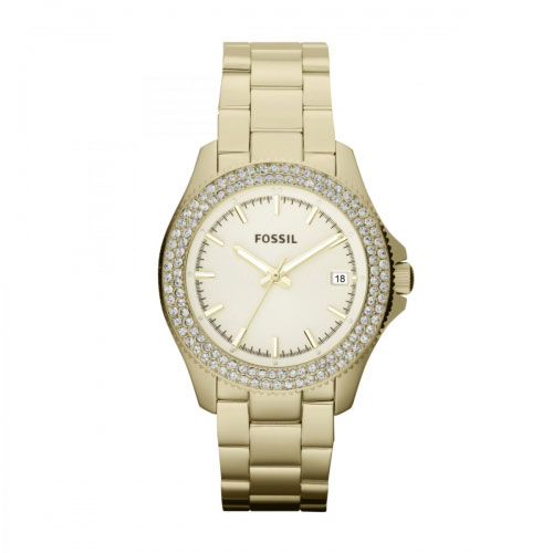 Fossil Retro Traveller Ladies Gold Watch AM4453