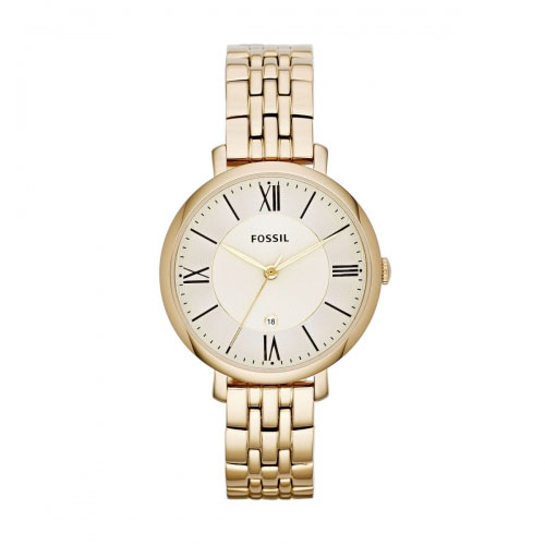 Fossil Jacqueline Gold Tone Watch