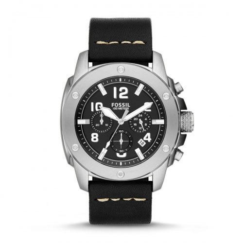 Fossil Modern Machine Men's Black & Silver Chronograph Watch FS4928