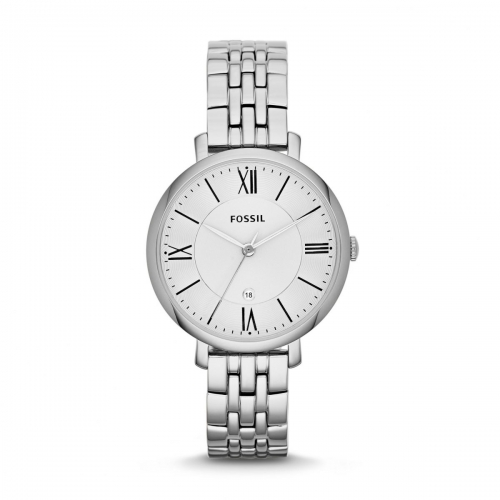 Silver Jacqueline Three-Hand Stainless Steel Watch