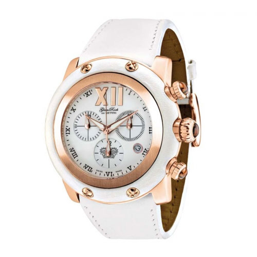 Glam Rock Miami White and Rose Chronograph Watch