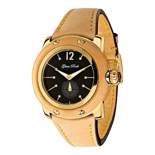 Glam Rock Palm Beach Natural Leather Ladies Watch
