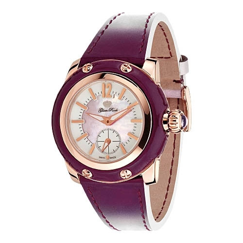 Glam Rock Palm Beach Purple Ladies Watch