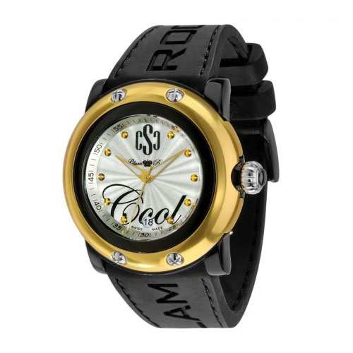Glam Rock Crazy Sexy Cool Black/Gold Watch