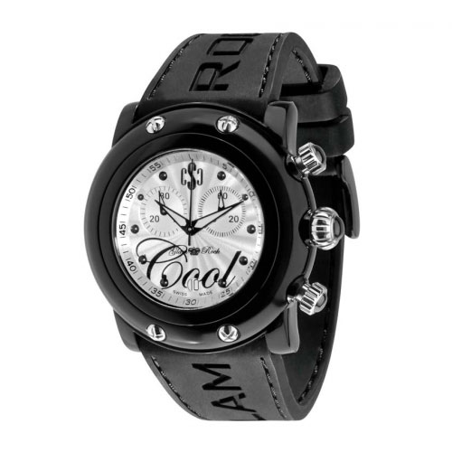 Glam Rock Crazy Sexy Cool Black Chronograph Watch