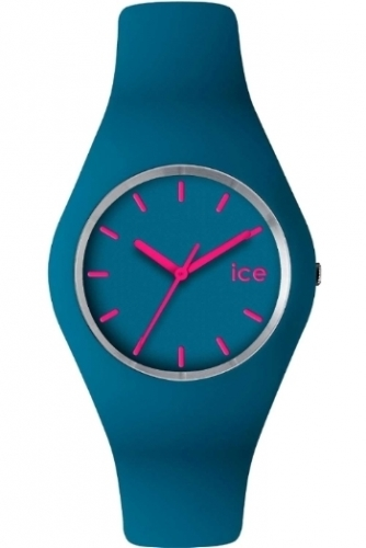 Unisex Sky Blue Watch with Pink Detail