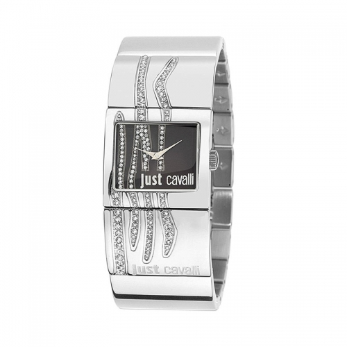 Just Cavalli Pattern Black Dial Watch R7253588503