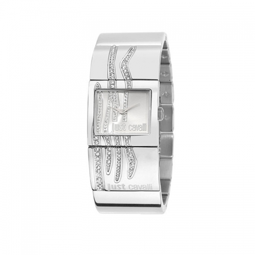 Just Cavalli Pattern Silver Dial Watch R7253588502