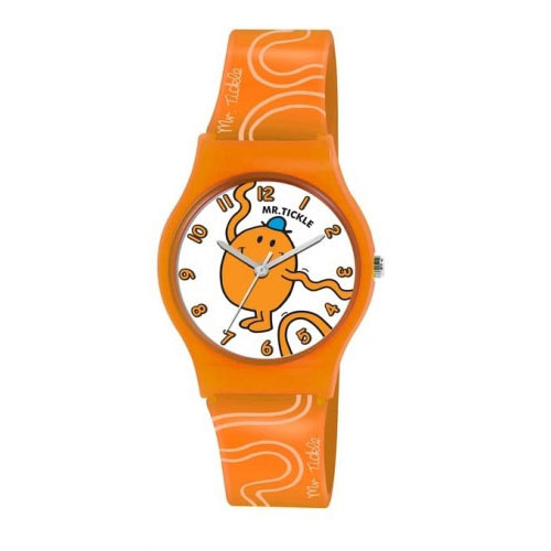 Mr Tickle Orange Boys Plastic Strap Watch