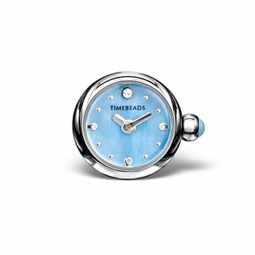 Timebeads Blue Round Watch Charm with Screw Fastening TB1016BL