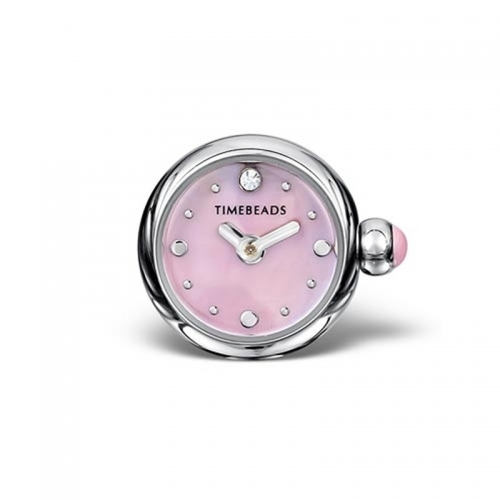 Timebeads Pink Round Watch Charm with Screw Fastening TB1015PK