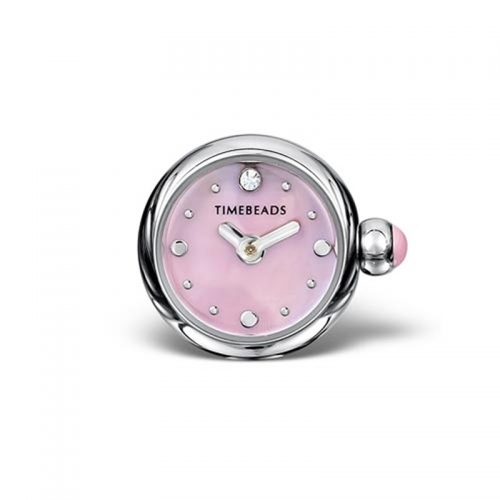 Timebeads Pink Round Watch Charm with Clip Fastening TB2015PK