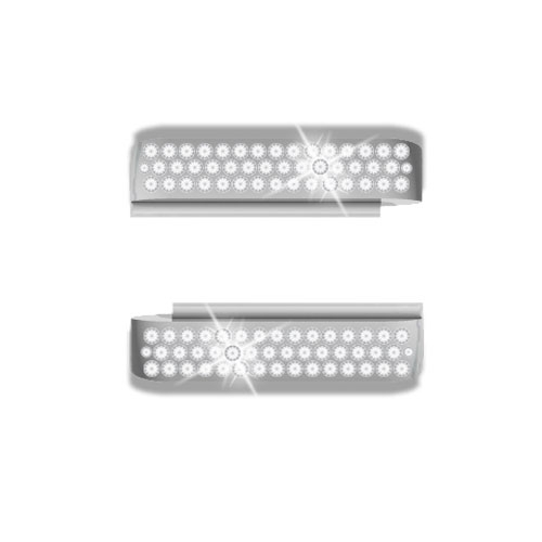 Wize and Ope White Strass Exchangeable Plastic Slides SL0162