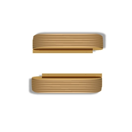 Wize and Ope Gold Waves Exchangeable Plastic Slides SL092