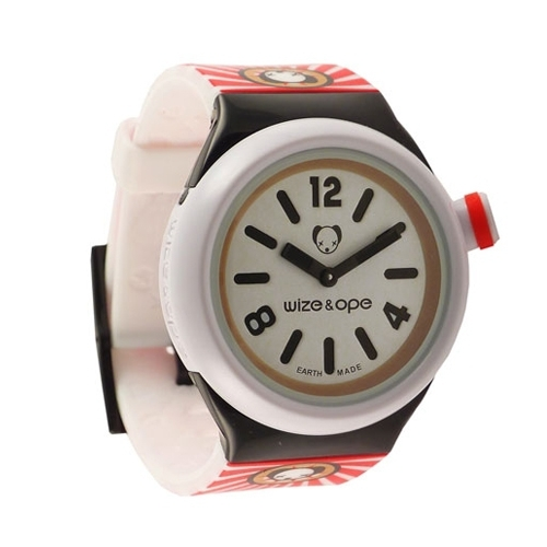 Wize and Ope Open Your Mind  White Shuttle Watch SH-OYM-1