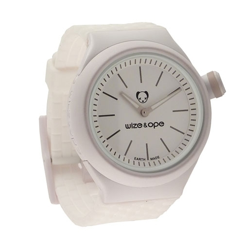 Wize and Ope Club  White Shuttle Watch SH-CL-4