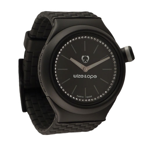 Wize and Ope Club  Black Shuttle Watch SH-CL-1S