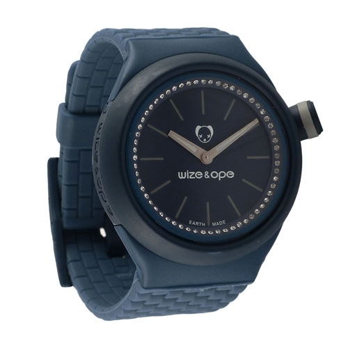 Wize and Ope Club  Dark Blue Shuttle Watch SH-CL-7S